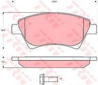Тормозные колодки передние  Рено GRAND SCNIC II/ Кенго/ Кенго Rapid/ MEGANE I Cabriolet (пр-во TRW GDB1552)