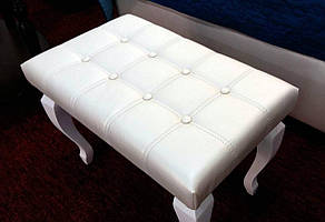 Пуфик деревянный белый Леон Модуль Люкс, фото 2