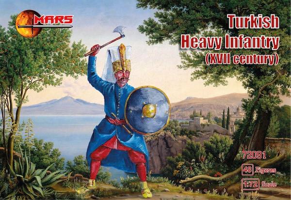Турецкая тяжелая пехота, XVII век. Набор пластиковых солдатиков в масштабе  1/72. MARS 72091