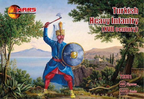 Турецкая тяжелая пехота, XVII век. Набор пластиковых солдатиков в масштабе  1/72. MARS 72091, фото 2