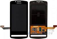 Дисплей (экран) для телефона Nokia 700 + Touchscreen Black