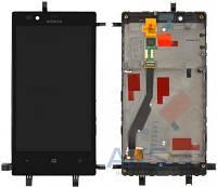 Дисплей (экран) для телефона Nokia Lumia 720 + Touchscreen with frame Original
