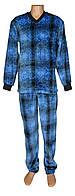 Пижама мужская махровая 18206 Winter Man Blue вельсофт для сна и дома, р.р.44-58