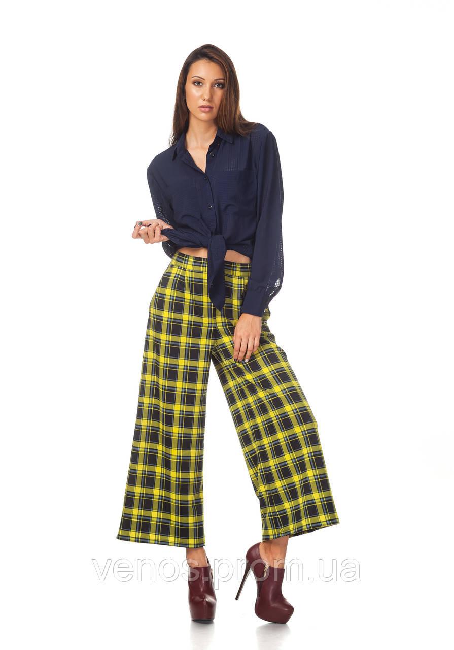 Женские брюки-кюлоты в клетку. КЮЛ007