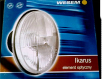 Фара головного света Wesem  Ø178мм с пыльником на ВАЗ 2101, 2102, Ниву, КАМАЗ, Ikarus, ЗАЗ, Волгу RE.12111