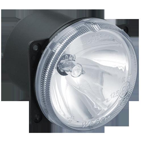 Фара дальнего света Wesem Ø 80мм белая круглая с лампой и проводом  HM4.33705
