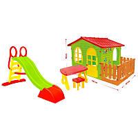 Mochtoys будиночок для дітей-№07 з терасою і столиком детский домик