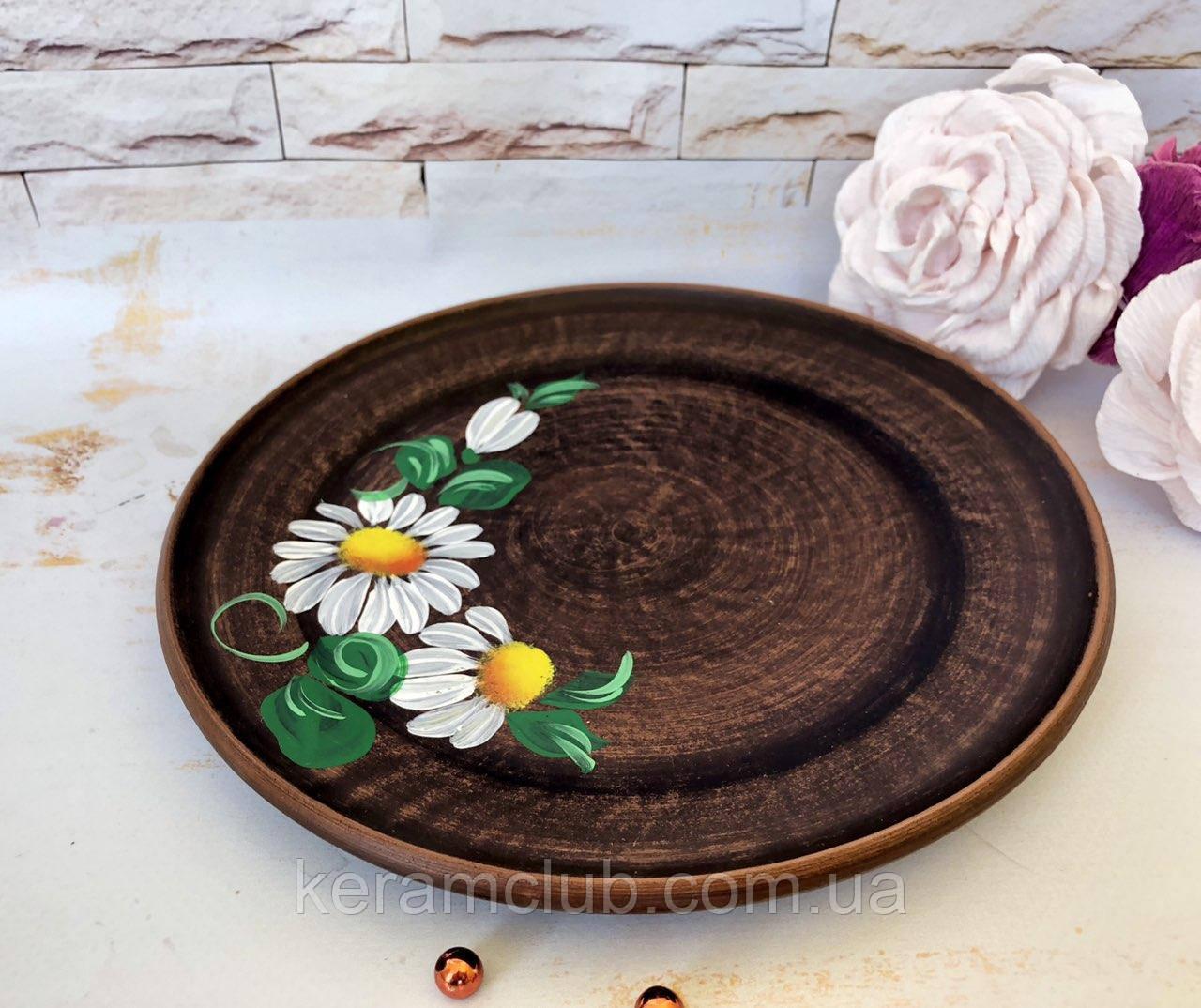 Керамическая тарелка рисованная 20 см