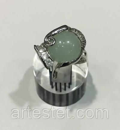 🏵️стильное кольцо с нефритом, 17 р., новое! арт. 8960, цена - 85 ...   434x400