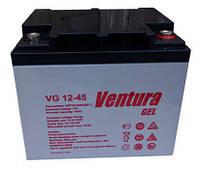 Гелевая аккумуляторная батарея Ventura VG 12-45 GEL, емкость 45Ач