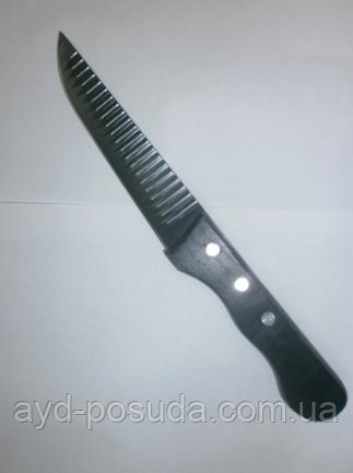 Нож ребристый с деревянной ручкой арт. 822-5-25 (25 см.)