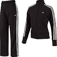Костюм спортивный женский adidas ESS 3SKNIT E14706 (черный, прямой крой, для тренировок, с логотипом адидас)