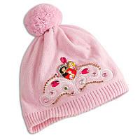 Детская вязаная шапочка для девочки Disney Princess  3 года-6 лет
