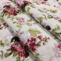 Ткань для штор Eliana Цветок фон молочный 280 см (688841)