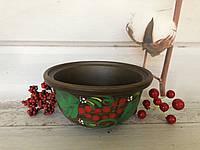 Пиала из красной глины с рисунком 450мл