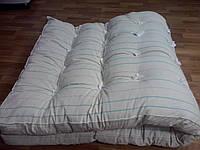 Матрас тиковый 190х70, наполнение - швейная вата
