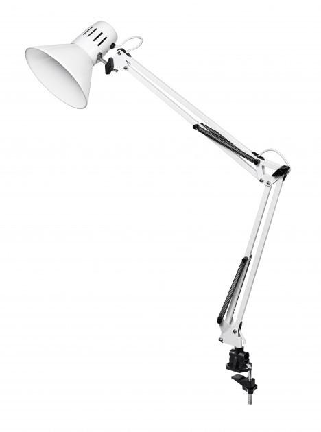 Настольная лампа на струбцине DELUX TF-06 белая Е27