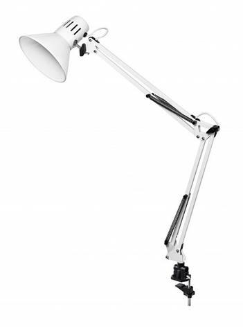 Настольная лампа на струбцине DELUX TF-06 белая Е27, фото 2