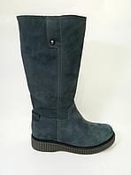Женские кожаные полусапожки серого цвета ТМ Santini, фото 1