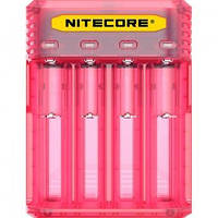 Зарядное устройство Nitecore Q4 (4 канала), розовое