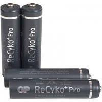 Аккумулятор никель-металлогидридный Ni-MH AAA GP ReСyko+Pro, 1.2V (800mAh), 4шт. в блистере