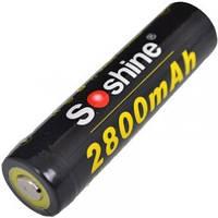 Аккумулятор литиевый Li-Ion 18650 Soshine 3.7V (2800mAh), защищенный