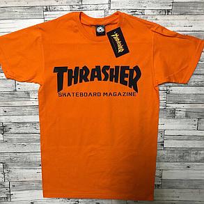 Thrasher футболка оранжевая мужская • Бирки на фото, фото 2