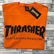 Thrasher футболка оранжевая мужская • Бирки на фото, фото 3