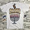 Thrasher футболка женская белая • Бирка трешер • Отличное фото