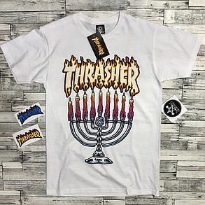 Thrasher футболка женская белая • Бирка трешер • Отличное фото, фото 2