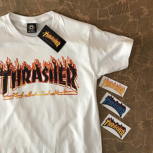 Thrasher Magazine • Футболка белая мужская • Бирка топовая, фото 2