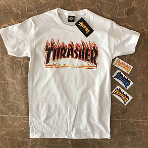 Thrasher Magazine • Футболка белая мужская • Бирка топовая, фото 2
