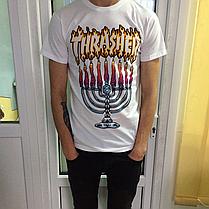 Thrasher Flame футболка • Бирки трешер • Реальные фотки • Огненный принт , фото 2