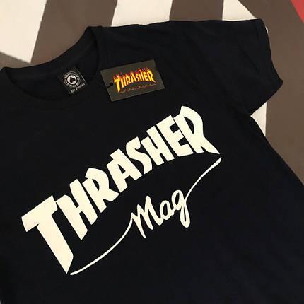 Черная футболка Thrasher Mag. Люкс . Бирка, фото 2