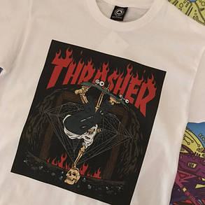 Белая футболка Thrasher. Люкс , фото 2