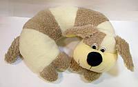 Шерстяная декоративная подушка для шеи Собака