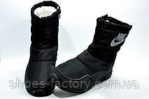 Дутики женские в стиле Nike, Black, фото 3