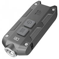Фонарь Nitecore TIP CRI (Nichia LED, 220 люмен, 4 режима, USB), серый