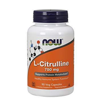 Цитрулин NOW L-Citrulline 750 mg 90 veg caps