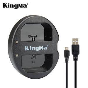 Двойное зарядное USB устройство KingMa для аккумуляторов Canon LP-E6