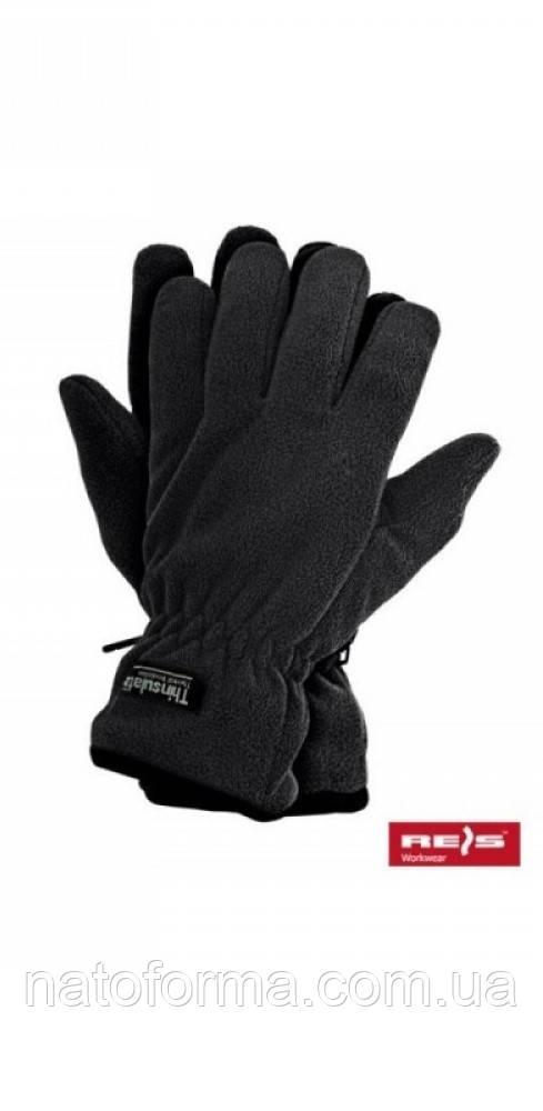 Флисовые перчатки Reis Thinsulate, черный