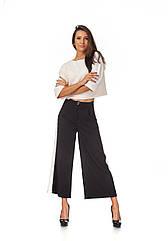 Женские брюки-кюлоты с лампасами. КЮЛ006