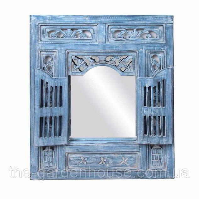 Зеркало со ставнями 80х95 см, синее
