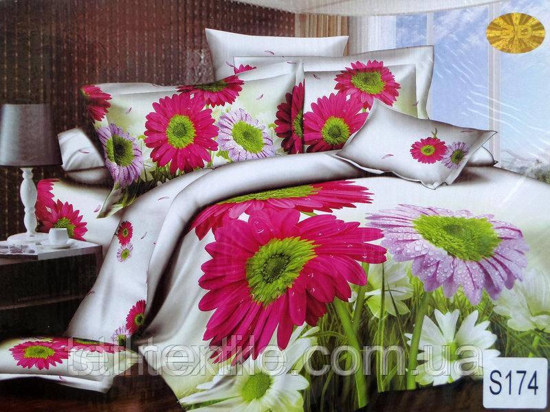 Комплект постельного белья Elway Premium 3D Сатин Евро