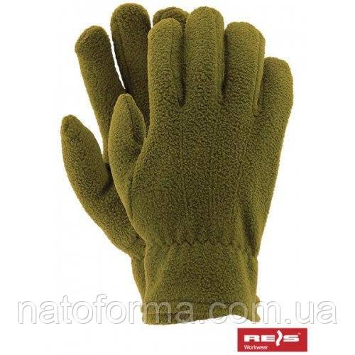 Флисовые перчатки Reis, олива