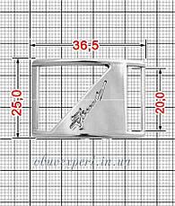 Декоративная пряжка-перетяжка (правая)   20 мм  Серебро, фото 2