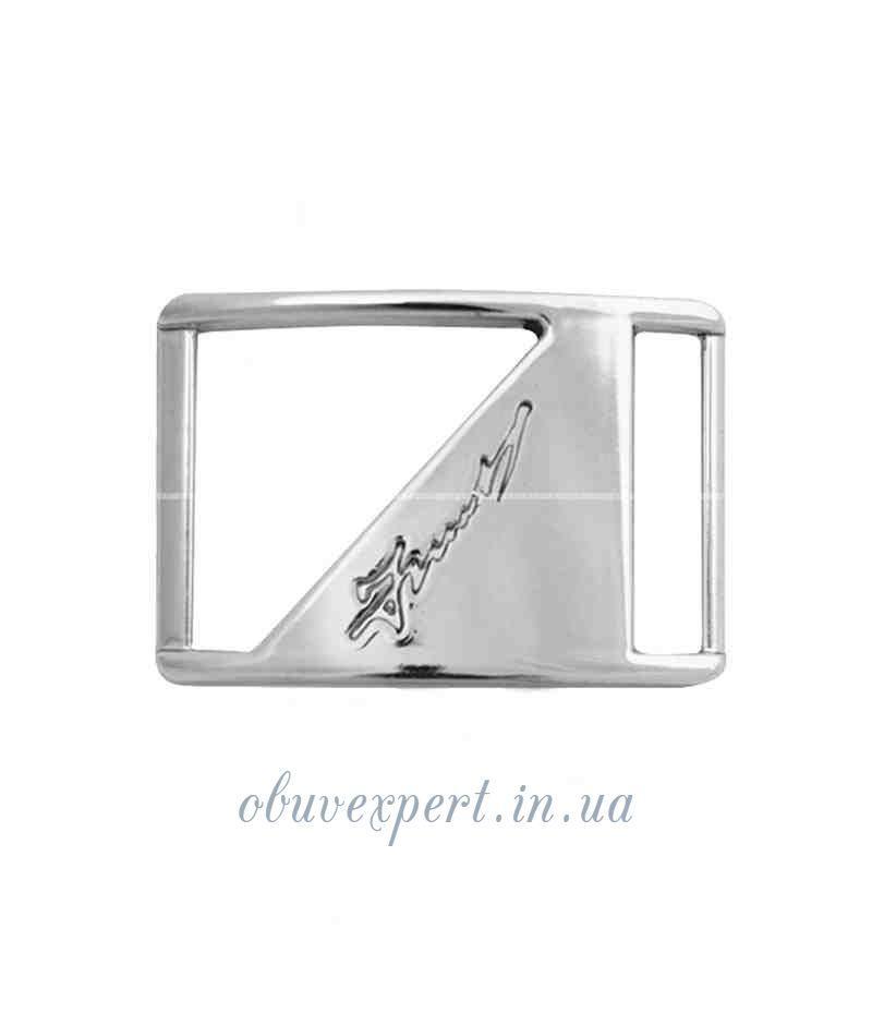 Декоративная пряжка-перетяжка (правая)   20 мм  Серебро