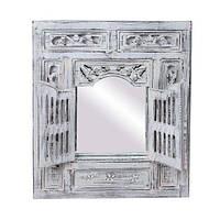 Зеркало со ставнями 60х70 см, белый