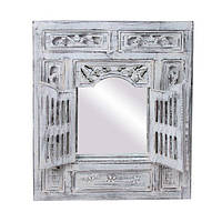 Зеркало со ставнями 60х70 см, белое