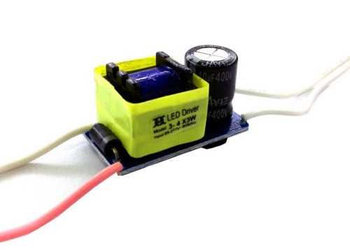 Драйвер 650мА, 3-4 светодиодов 3W/